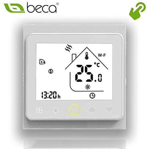 Calentamiento de caldera, Negro BECA 3000 Series 3//16A LCD Touch Screen Water//Electric//Boiler Heating Intelligent Programming Control Thermostat with WIFI Connection