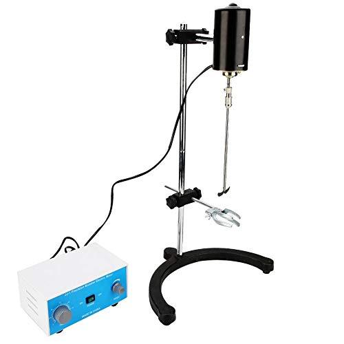 Digitales Bedienfeld,100W Precision Digital Display Rührer mit Rührstab/100 W Motor/Pleuelstange/Clip/Basis/Kreuzverbinder,0-2400 U/min, mit kraftsteigernder Funktion,für kleines Labor(eu)