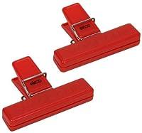 Ekco 1094976 2 Piece Bag Clip Set, Red