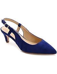 ComeShun Womens Shoes Slingback Kitten Heels Dress Court Pumps Shoes