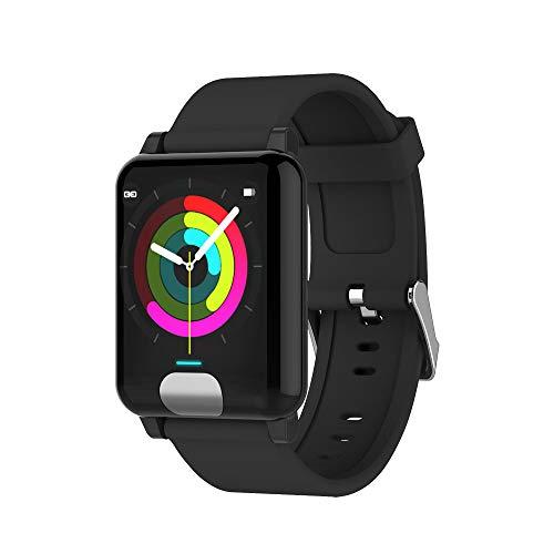 Fulltime E-Gadget Multifunktionales intelligentes Armband, Android 4.4 Smart Watch Armband Band Armband Pulsmesser Fitness Tracker (Schwarz)