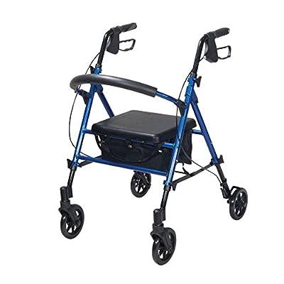 Drive Rollator Walker Wheels Walking Frame Mobility Aid Seat Folding Lightweight