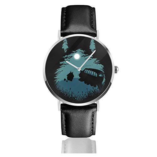 Unisex Business Casual My Fave Color Orologi natalizi Orologio al quarzo con cinturino in pelle nera per uomo Collezione donna regalo