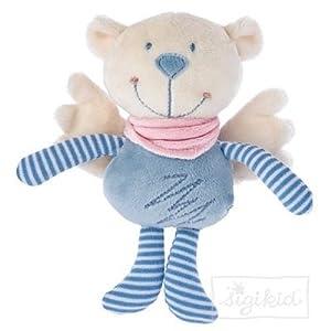 Sigikid 49062  - Bumbeidschi con traqueteo, Azul Claro, tamaño: 17 cm