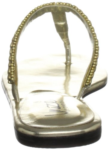 Unze Evening Slippers, Damen Slipper Gold (L18304W)