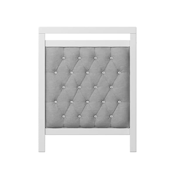 Babymore Velvet Deluxe Cot Bed  Diamante and velvet tufted upholstery Distinctive design for nursery Generous 5 cm solid wood structure, last for years of use 3