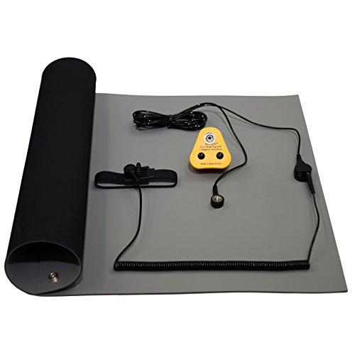 NOSHOCK ESD Erdungsmatte Hochtemperatur Lötstation Werkbank Matte Set Antistatisch - EU Kit 600x500mm