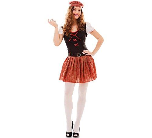 fyasa 706245-t04Scottish Girl Kostüm, groß