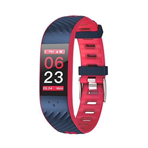 e00dbb0a3db26e Optiful Smartband Donna P4 Petalo   Fitness Tracker Donna Impermeabile IP67  Frequenza Cardiaca Contapassi Calcolo Distanza