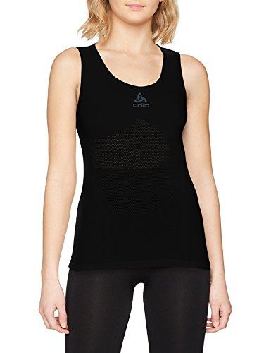 Odlo Damen SUW Crew Neck Singlet Performance Unterhemd, Black, M