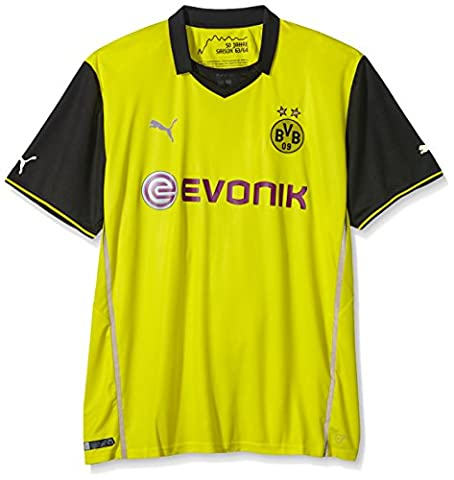 PUMA Herren Trikot BVB Home Int´l Shirt Replica Big Sizes with Sponsor Logo, blazing yellow-black, 5XL, 743553 01