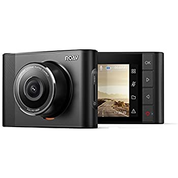 Roav, By Anker, DashCam A1, Dash Cam, Dashboard Camera Recorder with Sony Exmor 323 Sensor, 1080P FHD, NightHawk Vision, Wide-Angle View, WiFi, G-Sensor, WDR, Loop Recording, and Night Mode.