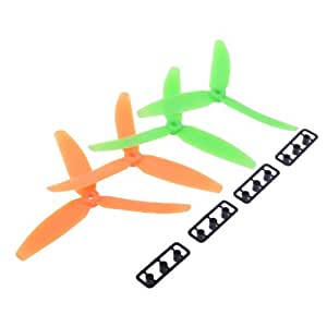 GEMFAN 2 Paires 5030 Hélice de 3-Pales d'Avion Props 50 * 3 CW Multi-Hélicoptère Quad-rotor