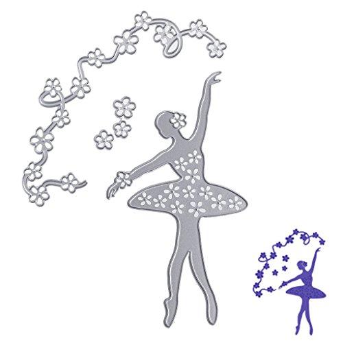 Fogun Ballett Stanzschablonen Metall Schneiden Schablonen für DIY Scrapbooking Album, Schneiden Schablonen Papier Karten Sammelalbum Dekor