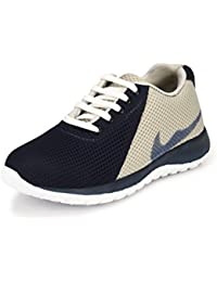Fucasso Men's Synthetic Blue Grey Sports Shoes