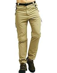 Zhuhaitf Moda Outdoor Sport Mens Zip Off Convertible Trousers Soft Shell WaterProof Pants