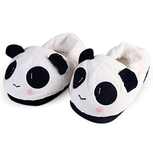 ANPI Soft Plush Slippers, Cute Cartoon Lovely Warm Non-slip Shoes for Home Indoor Women Men