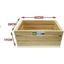EM Home 1 Piezas Caja de Almacenamiento,Caja de Madera Fruta,También Puede Vender