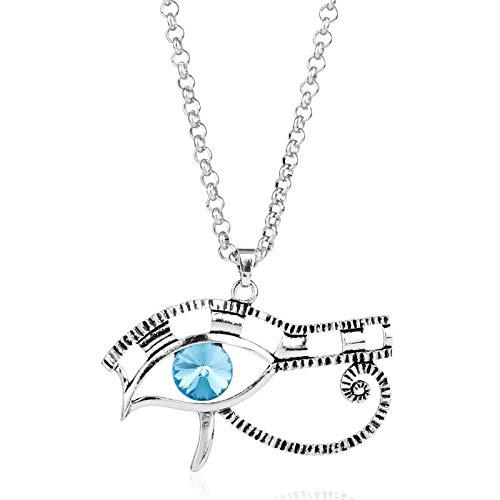 DADATU Halsketten für Herren Ägyptische Auge des Horus Charms Anhänger Halskette Vintage Silber Schutz Schmuck Neue Retro Götter Von Ägypten Halskette