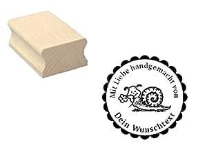 Holzstempel tampon motif sceau-escargot «main» + personnes texte scrapbooking-gaufrage bricolage