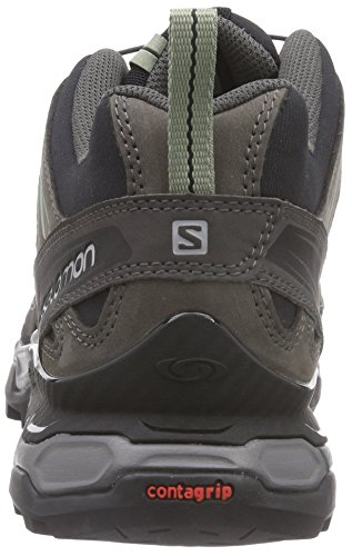 Salomon X Ultra Leather, Scarpe da Arrampicata Uomo Nero (Asphalt/Black/Hot Pink)