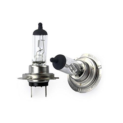 Jurmann® 2x H7 Birnen 55Watt PX26D GAS 12V CLEAR / GREY TOP UV-Kristallglas mit Gasfüllung Halogen Lampen Long Life Birnen Autolampen nach StVo zugelassen