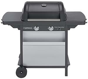 Campingaz Barbecue à Gaz Class 2 LX Vario, 2 Brûleurs, Puissance 7.5kW, Grille et Plancha en Acier Double Emaillage, 2 Tablettes Latérales