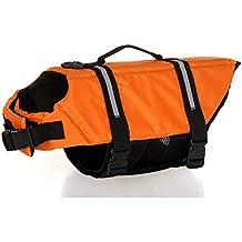 Sild Couleur Pet Life Jacket Taille réglable Chien Lifesaver Sécurité Gilet réfléchissant pour animal domestique sauvetage Chien Saver Gilet de sauvetage Manteau pour la natation, Surf, le Bateau, la chasse