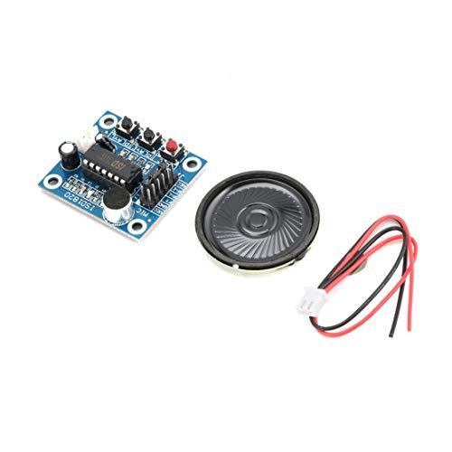 LouiseEvel215 ISD1820 10s Mic Voice Sound Wiedergabekarte Aufnahme Recorder Modul Kit Mikrofon Audio Lautsprecher Lautsprecher für Arduino (Mic-modul)