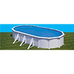 Piscina elevada de acero blanca 730 x 375 x 132 cm con filtro de arena Gre