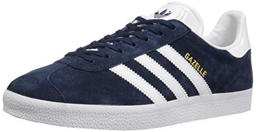 Adidas Mens Gazelle Nubuck Trainers Conavy-White-Goldmt