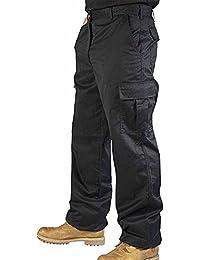 newfacelook Mens Cargo Combat Work Trousers Multi Pocket Working Pants Mechanic Worker Jeans