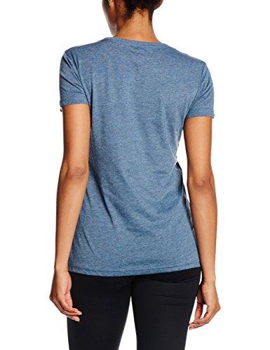 PUMA Damen T-Shirt ESS Large Logo Tee W Bering Sea Heather