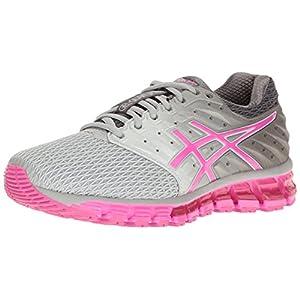 41wNfX81kzL. SS300  - ASICS Women's Gel-Quantum 180 2 Running Shoe, Mid Grey/Pink Glow/Carbon, 6.5 M US