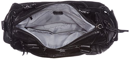 Sansibar - Zip Bag, Borse a secchiello Donna Nero (Black)