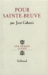 Pour Sainte-Beuve