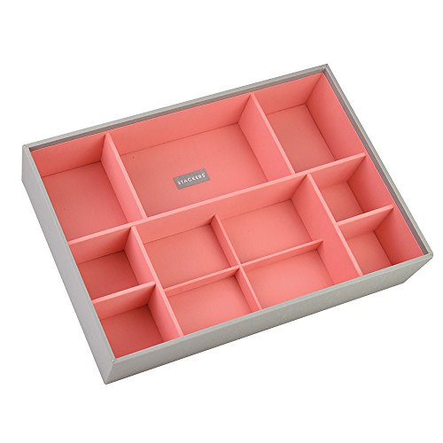 stackers-super-size-dove-grey-cross-hatch-large-deep-section-stacker-jewellery-box-with-coral-lining