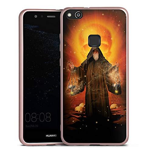 DeinDesign Silikon Hülle Rosé Gold Case Schutzhülle für Huawei P10 lite Zauberer Magician Magie