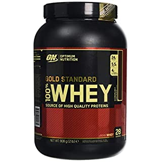 Optimum Nutrition Gold Standard Whey Protein Powder with Glutamine and Amino Acids Protein Shake - Extreme Milk Chocolate, 28 Servings, 908 g (Packaging May Vary)