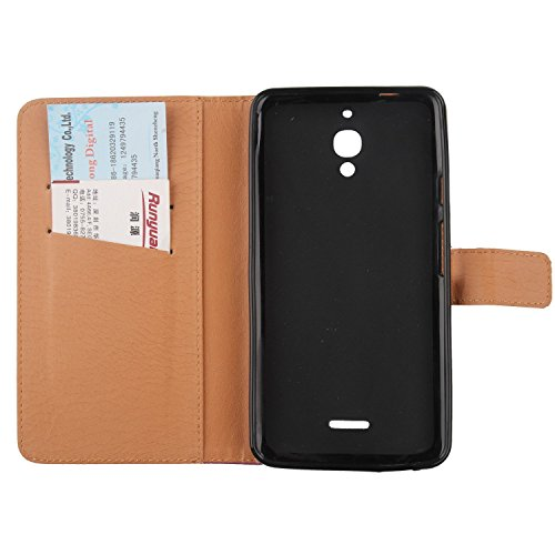 "Gukas 3in1 Set Noir Design PU Leather Cuir Case Pour Alcatel Pixi 4 6"" 4G 9001D Housse Coque Cover Etui Flip Protection Portefeuille Wallet Tactiles Capacitif Stylet Stylo Touch Pen Stylus Film Verre  Rouge"