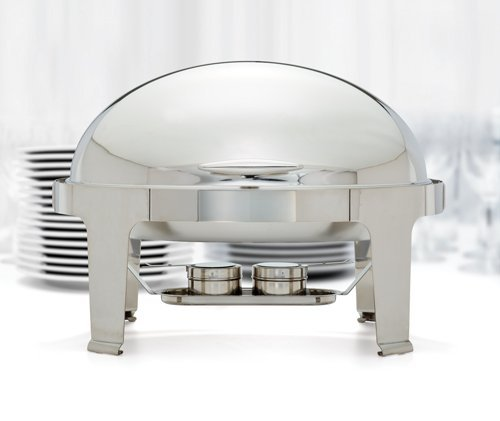 Winco 603 Oval Roll Top Chafer, 8-Quart Roll Top Chafer