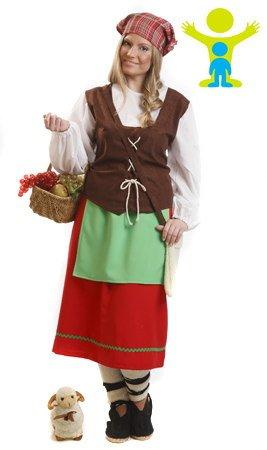 EL REY DEL CARNAVAL, SL Asturische-Hirtin-Kostüm für Damen ()