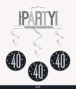 Unique Party- Adornos, Color black & silver (83786)