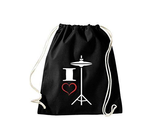 Shirtstown, Sac de gym Musique I Love Hi Hat Noir - Noir