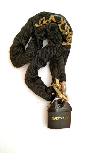Blackspur BB-BH240 - Lucchetto con catena antifurto, 1,1 m x 10 mm