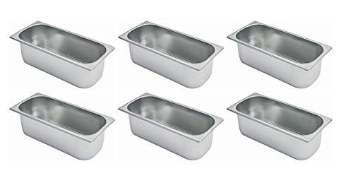 Speiseeisbehälter 5 Liter 360 x 165 x 120 mm Set
