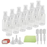 Fine Mist Spray Bottles,KAKOO 12 Pcs Transparent Travel Bottle Toiletries Liquid Containers for Cosmetic Makeup