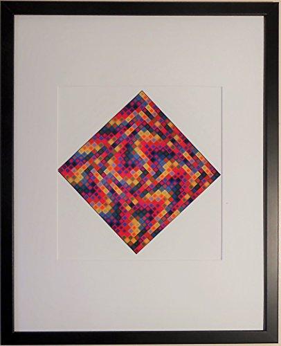 aufgezogen und gerahmt Majus 2Print von Victor Vasarely–50,8x 40,6cm–Teil der...