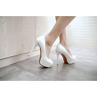 Sandali estate Club scarpe in microfibra casuale tacco a spillo delle donne Blushing Rosa Beige Nero Bianco US9 / EU40 / UK7 / CN41