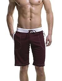 Demarkt Homme Short de Sport Pantalon Court de Plage Taille S/M/L - Couleur Noir Bleu Rouge Gris Blanc